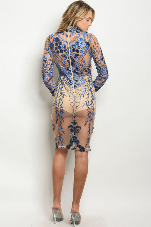 Nude Royal Sequins Dress