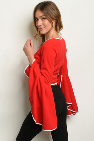 Long Sleeve Top - Red