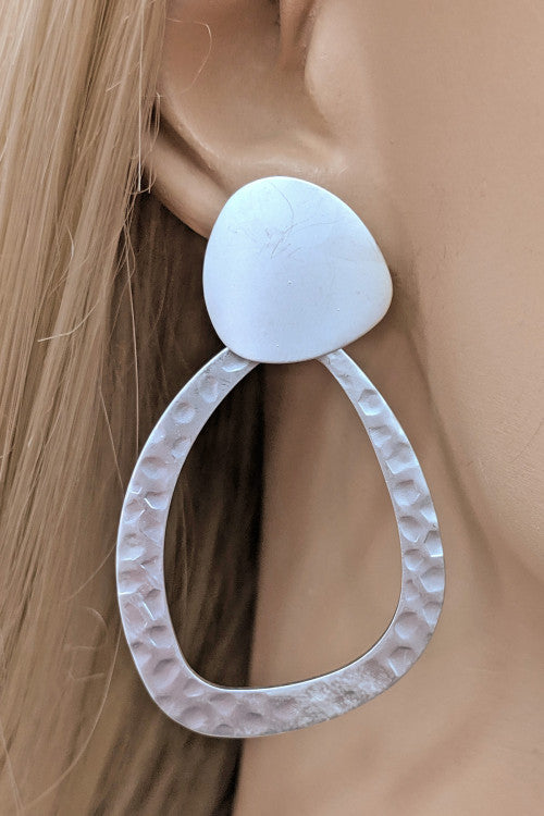 Oval Embossed Fashion Earrings