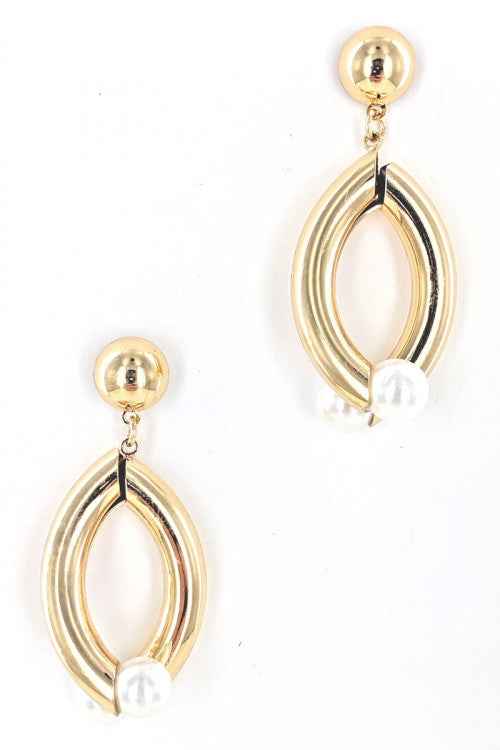 Fashion Earrings With Pearl Detail