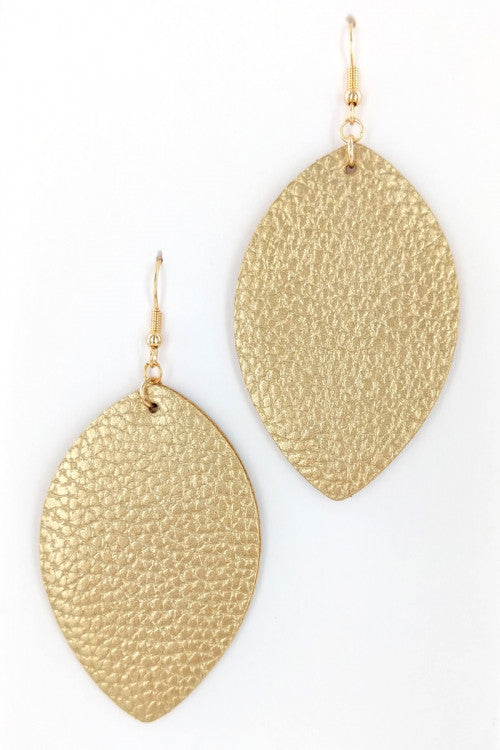 Leather Leaf Style Fashion Earrings