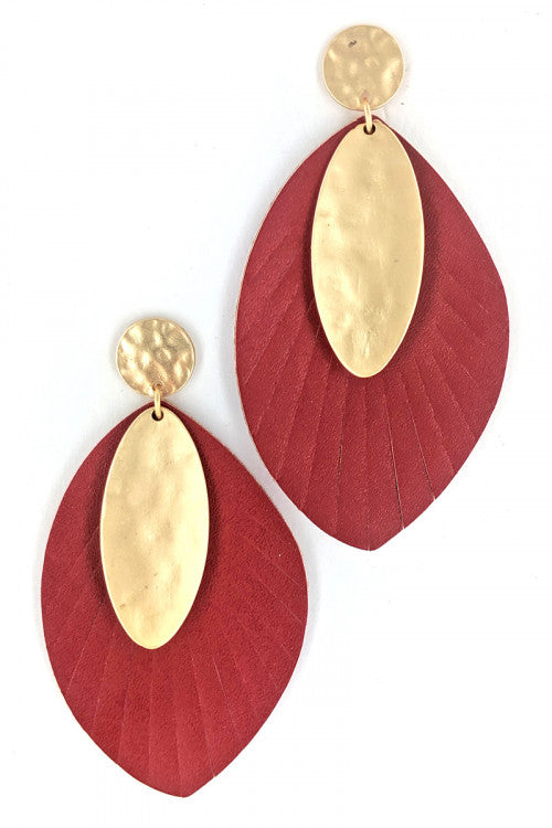 Leather Fashion Earrings