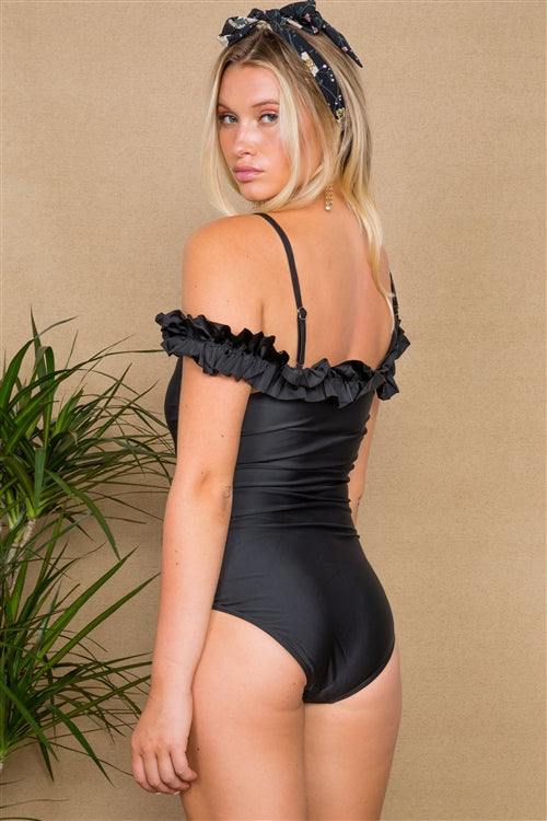 One Piece Ruffled Swimsuit