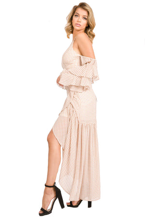 Gingham Pattern Woven 2 Piece Skirt Suit From Gold Coast Girl Fashion