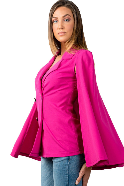 Double Breasted Cape Blazer