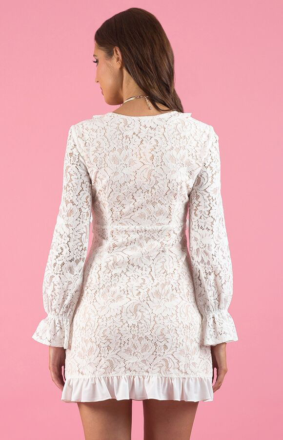 Curled Frill Lace Dress