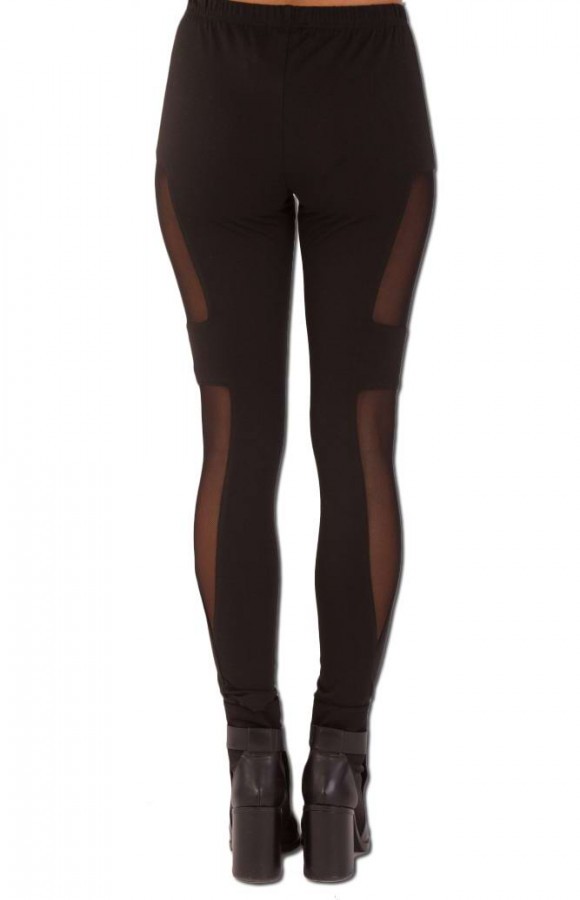 Legging With Side Sheer Panel
