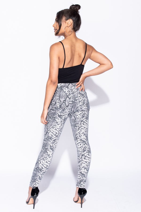 Snake Print High Waisted Jeggings