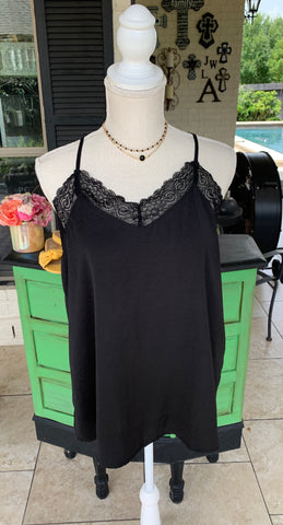 Simply Sweet Lace Camisole in Black