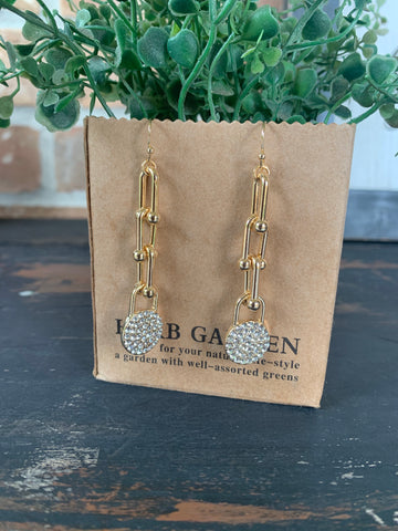 Gold Links and Bling Earrings