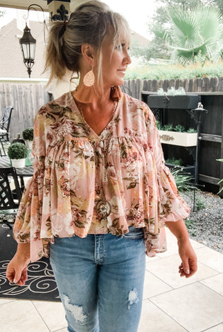 Blossom Brunch in Pink Blouse