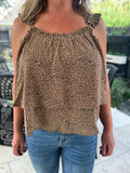 Stay Real Leopard Blouse