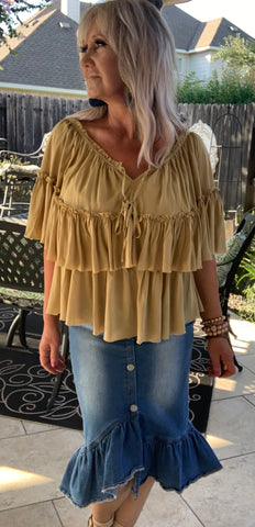 Honey Romance Ruffle Blouse