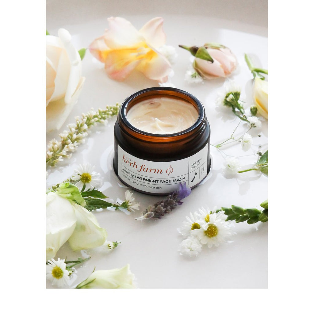 The Herb Farm | Overnight Face Mask | 50 ML Glass Jar