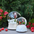 Glass Santa Snow Globe
