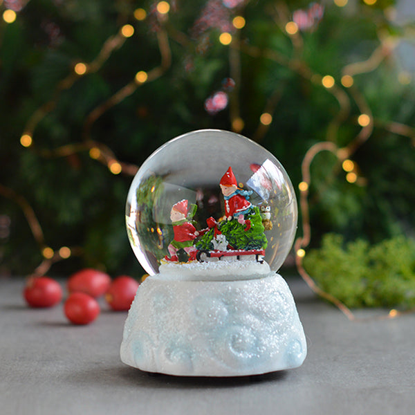 Elves Snow Globe