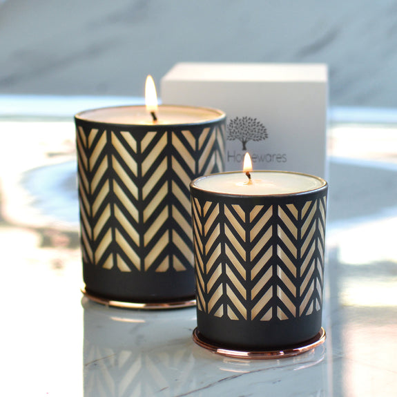 Chevron Copper Scented Candle Large