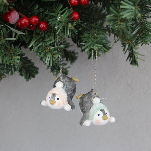 Penguin with Hat Ornament