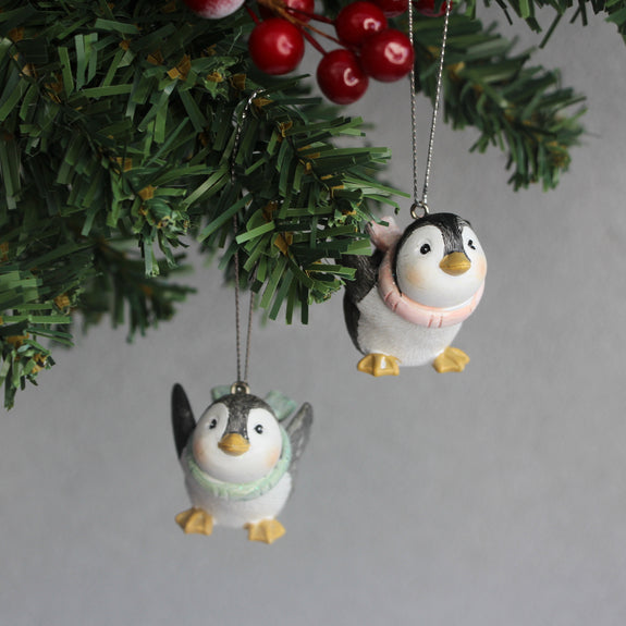 Penguin with Scarf Ornament