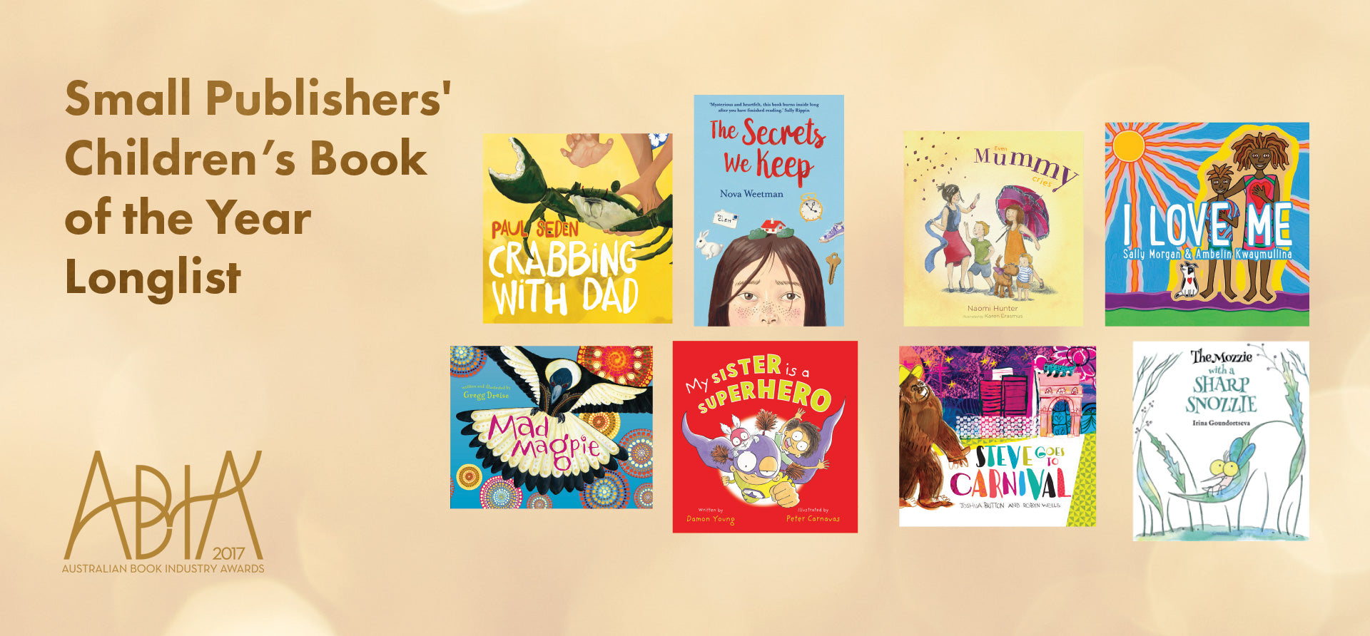 ABIAs Small Publishers' Children's Book of the Year Longlist