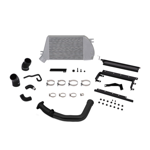 Mishimoto 2015 Subaru WRX Top-Mount Intercooler Kit - Polished Cooler & Black Pipes