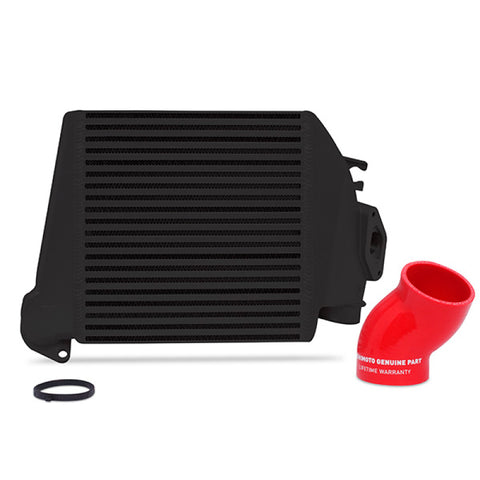 Mishimoto 08-14 Subaru WRX Top-Mount Intercooler Kit - Powder Coated Black & Red Hoses