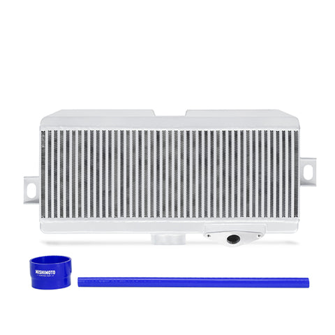 Mishimoto Subaru 08-15 WRX STi Top-Mount Intercooler Kit - Powder Coated Silver & Blue Hoses