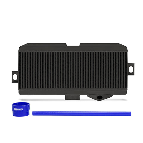 Mishimoto Subaru 08-15 WRX STi Top-Mount Intercooler Kit - Powder Coated Black & Blue Hoses