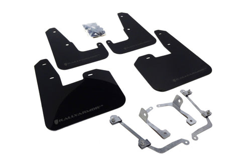 Rally Armor V2 08-11 STI (hatch only) / 11 WRX (hatch only) UR Black Mud Flap w/ Grey Logo
