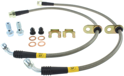 StopTech 08-09 WRX Stainless Steel Rear Brake Lines