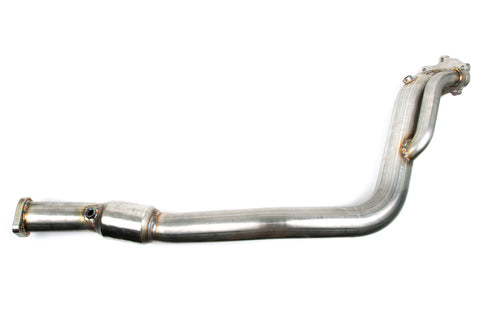GrimmSpeed 08+ WRX/08+ STi/05-09 LGT Downpipe 3in Catted Limited w/ Ceramic Black Coating