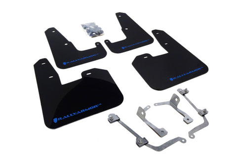 Rally Armor V2 08-11 STI (hatch only) / 11 WRX (hatch only) UR Black Mud Flap w/ Blue Logo