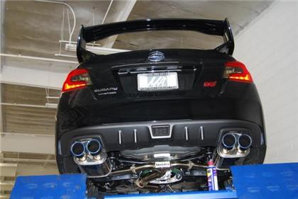 Invidia 15+ Subaru WRX/STI 4Dr Q300 Twin Outlet Rolled Titanium Burnt Quad Tip Cat-Back Exhaust