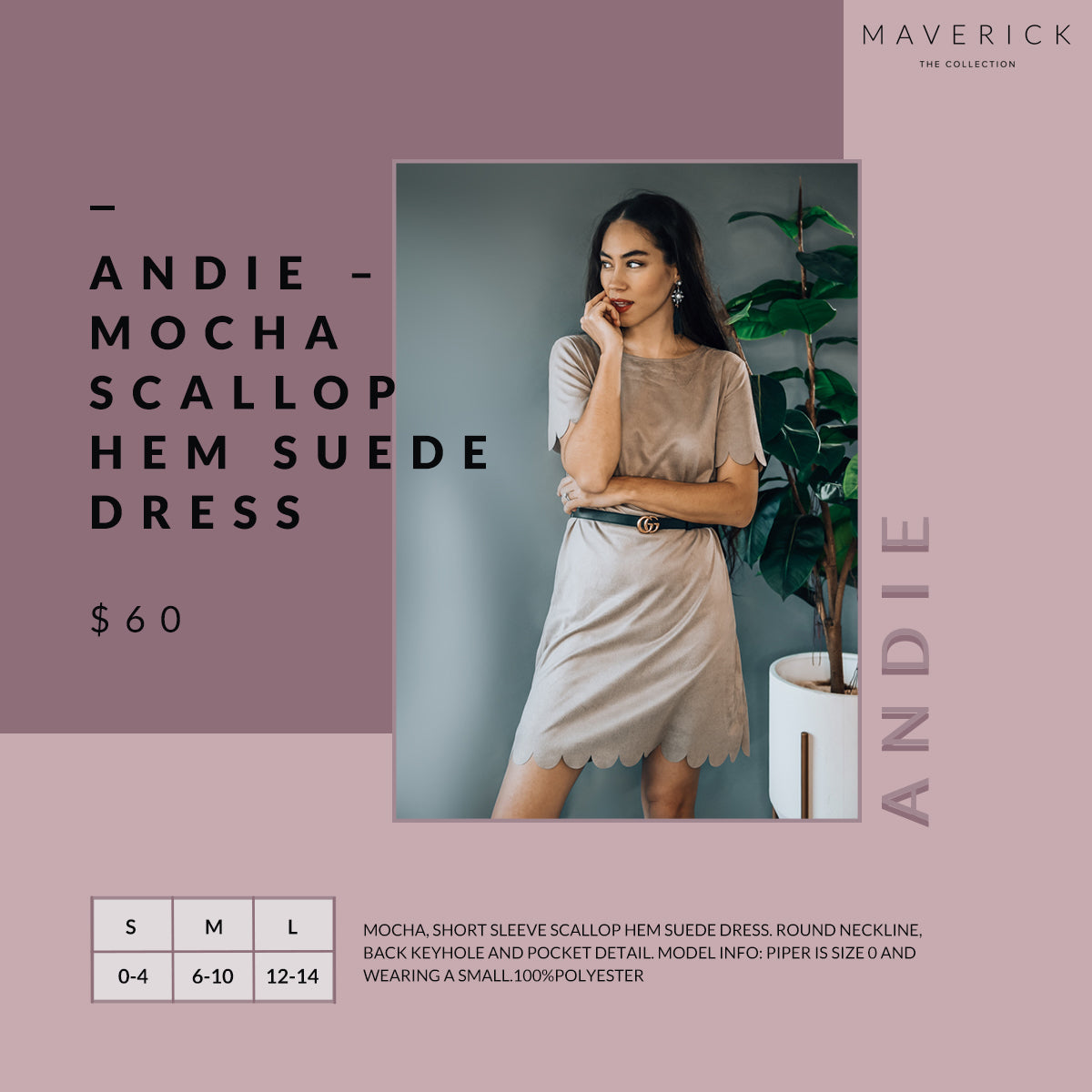 Andie - Short Sleeve Suede Dress