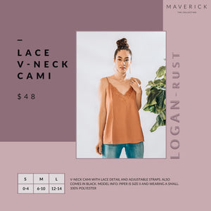 Logan - Rust Lace Cami