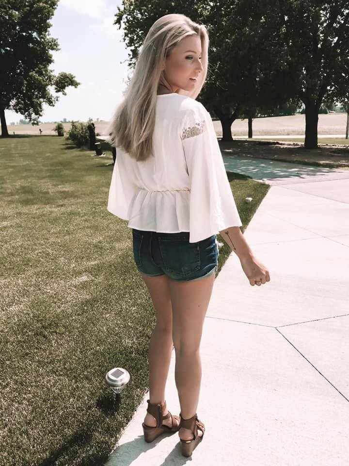 Kylie - Boho Cream Colored Blouse