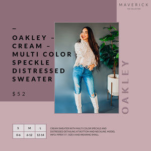 Oakley - Multi Speckled Distressed Sweater