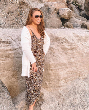 Sissy Leopard Print Maxi Dress with Pockets