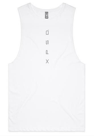Mens White Tank Elite Range, Various Colour Print