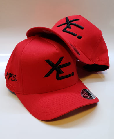 110 A-Frame Snapback Red/Black