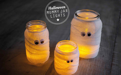 DIY Halloween Mummy Jars