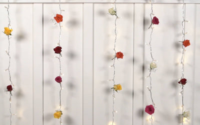 DIY Curtain Light Flower Wall
