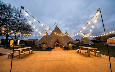 Marquee Wedding Light Ideas