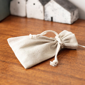 Linen Drawstring Battery Box Bag