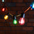 Ultimate Connect 10m 20 Multi Coloured Festoon Lights Black Cable