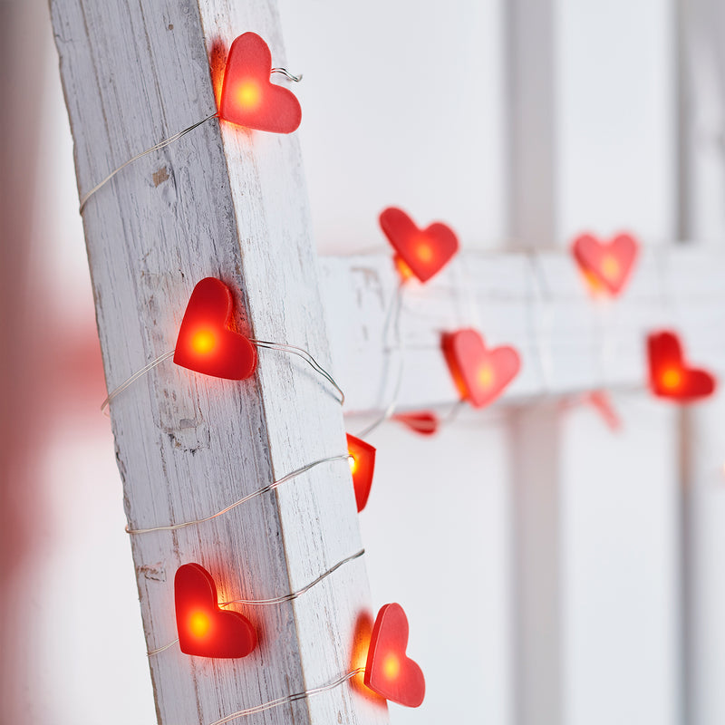 20 Heart Micro Fairy Lights Lights4fun Co Uk