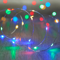 20 Multi Coloured Led Micro Battery Fairy Lights