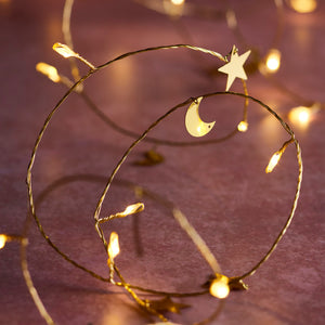 20 Moon & Star Micro Fairy Lights