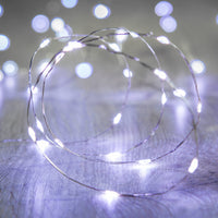 20 White Led Micro Battery Fairy Lights