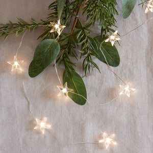 50 Warm White Star Micro Fairy Lights